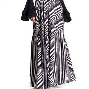 TOV zebra maxi skirt black white 40 S/M